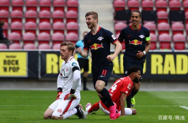 德甲战报+最新排名,莱比锡红牛5比0狂胜美因茨
