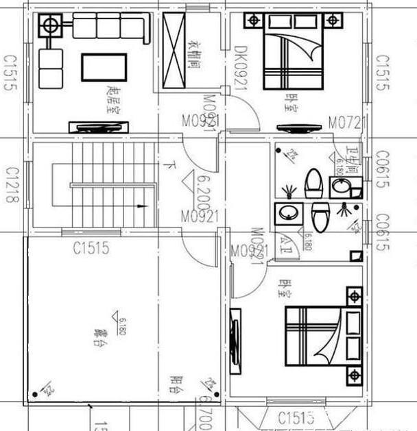 精选三套农村自过滤设计图,建房80到120平方测滤图占地鱼缸设计图图片