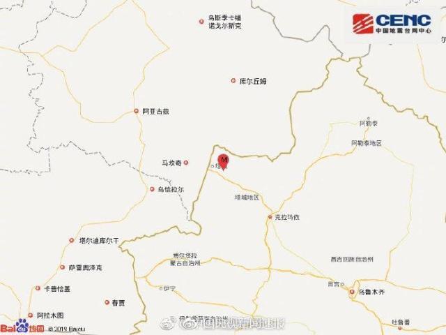 今日新疆塔城发生5.2级地震 未有人员伤亡报告