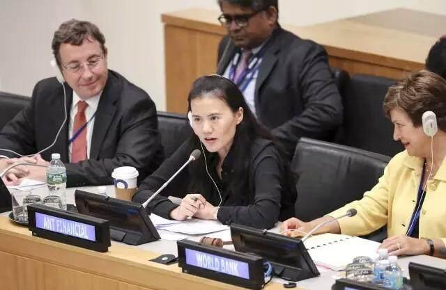 继马云之后,支付宝老大征服联合国总部,她说的这两件事没人不服