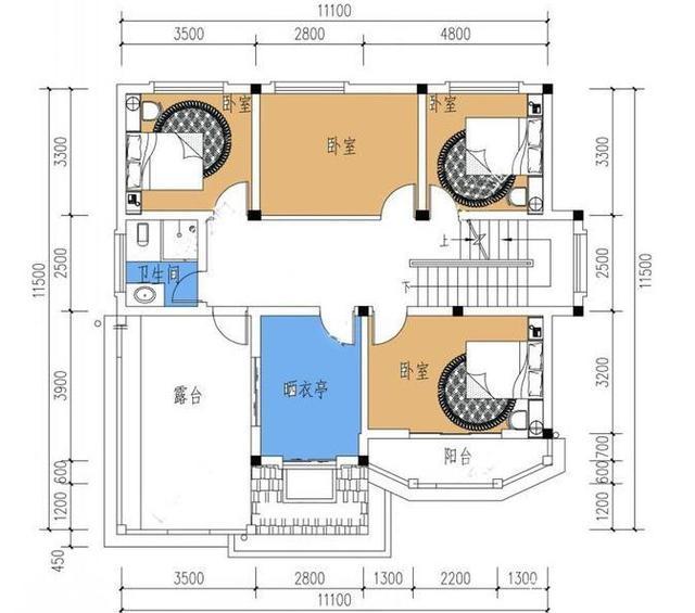 精选三套农村自标注设计图,占地80到120平方设计ui切图建房怎么图片