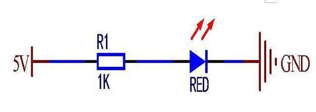 原理很简单:普通发光二极管在电源指示灯的应用