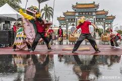 标题:新竹县客家武术舞狮协会深耕校园学生舞狮结合武术展示成果