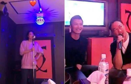 王菲谢霆锋陈奕迅K歌演唱会级别的欢畅 谢霆锋眼中都是爱