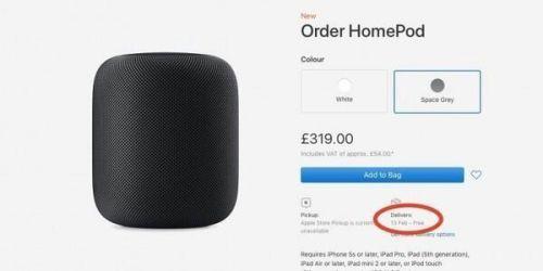 还未上市就延迟发货 苹果HomePod在英国引起粉丝不满