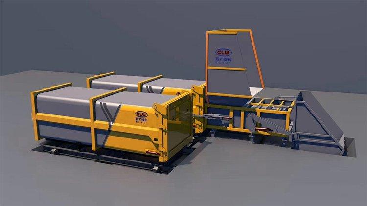 移动分体式垃圾压缩设备
